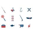 Fishing icon set vector image vector image