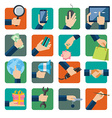 Flat design icons set vector image vector image