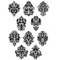 Foliate arabesque design elements vector image vector image