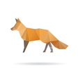 Fox abstract isolated on a white backgrounds vector image