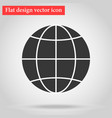 globe icon flat design a symbol of the web globe vector image