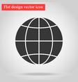 globe icon flat design a symbol web vector image
