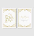 golden save date line lettering vector image