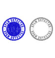 grunge spam detected textured stamp seals vector image vector image