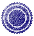 grunge textured round rosette seal vector image vector image