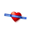 happy valentines day greetings written on sticky vector image vector image