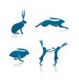 hare icon cartoon rabbit icon set vector image vector image