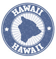 hawaii grunge stamp vector image vector image