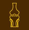 human knee joint bone icon health medical vector image vector image