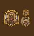 hyena mascot logo design vector image vector image
