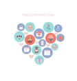 Icons to the International Womens Day vector image