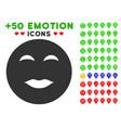 lady pleasure smiley icon with bonus avatar vector image vector image