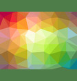 low poly abstract background with colorful vector image vector image
