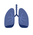 Lung or human lungs icon with bronchial system