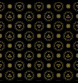 luxe gold black polka dot daisy pattern seamless vector image vector image
