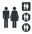 Man woman icon set monochrome
