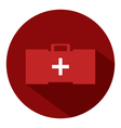 medical suitcase icon vector image vector image