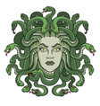 medusa greek myth creature pop art vector image