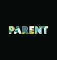 parent concept word art vector image