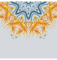 Part of a bright mandala ornament with place for vector image vector image