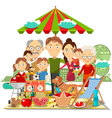 Picnic family vector image vector image