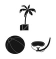 pool and swimming icon vector image vector image