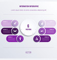 process chart template for presentation 6 option vector image