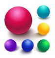 realistic spheres vector image vector image
