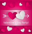 romantic background happy valentines day party vector image vector image