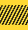 seamless grunge security yellow black diagonal str vector image vector image