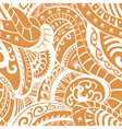Seamless pattern in Polynesian style vector image