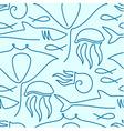 Seamless pattern made of sea fauna vector image vector image