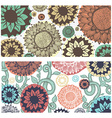 set colorful floral pattern flowers branches vector image