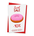 set of pastry poster banner for sale of donut vector image vector image