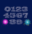 Shiny Numbers Set vector image vector image