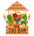 signboard of tiki bar vector image