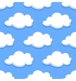 Sky seamless pattern with white clouds vector image vector image