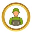 Soldier icon vector image vector image