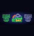 st patricks day neon sign logo vector image