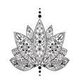 tattoo element Henna Lotus vector image vector image
