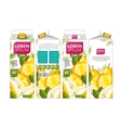 Template Packaging Design Pear Juice vector image vector image
