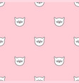 tile pattern with cats on pink background vector image