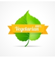 vegan label vector image vector image