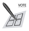 voting card with a pen vector image vector image