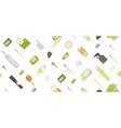 zero waste seamless pattern in minimalism vector image