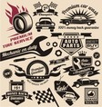 Set of vintage car symbols and logo designs vector image