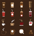 0408 Coffee icons vector image