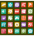 25 modern flowers icons - sets vector image vector image