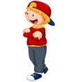 a happy boy character vector image vector image