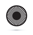 abstract black circle vector image